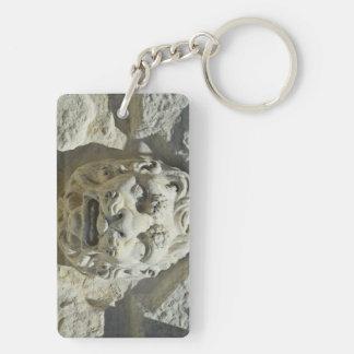 Old Venice Double-Sided Rectangular Acrylic Key Ring