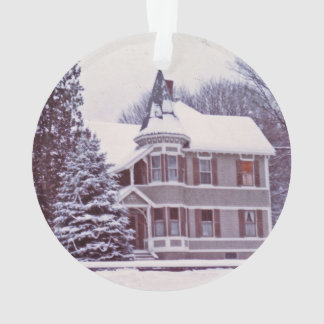 Old Victorian House - Home for the Holidays Ornament