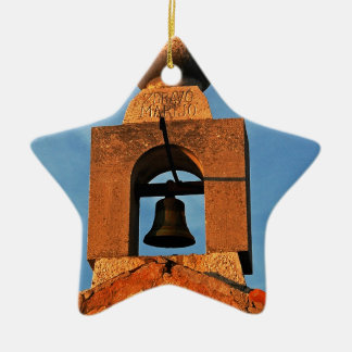 Old village church on the island Pag in Croatia Ceramic Star Decoration