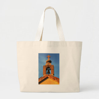 Old village church on the island Pag in Croatia Large Tote Bag