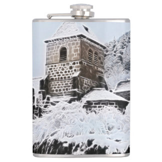old village in France Hip Flask