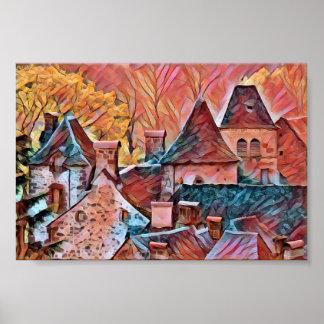Old village in France Poster