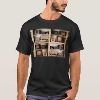 Old Vintage 1950's Radios on Shelves T-Shirt