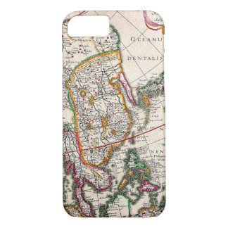 Old Vintage Antique Map of Asia Circa 1632 iPhone 7 Case