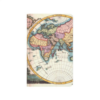 Old Vintage Antique world map illustration drawing Journal