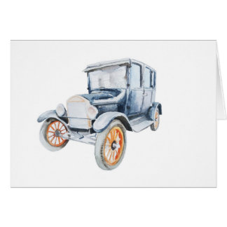 Old vintage car card. card
