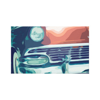 Old Vintage Car from the 50's Front Grill Canvas