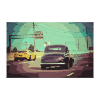 Old Vintage Car from the 50's Simple Design Canvas