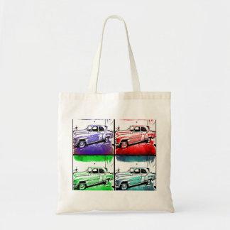 Old Vintage Car Watercolor Pop Art Print Tote Bag