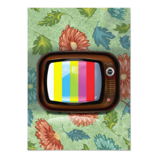 Old Vintage CRT Television Card