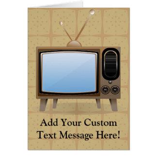 Old Vintage Floor Television Card