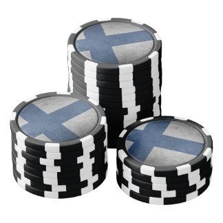 Old Vintage Grunge Finland Flag Poker Chips