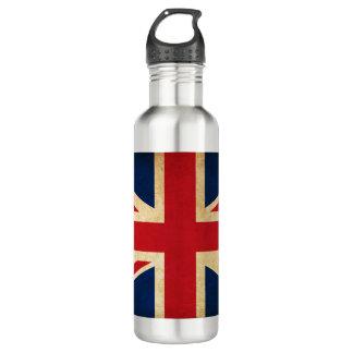 Old Vintage Grunge United Kingdom Flag Union Jack 710 Ml Water Bottle
