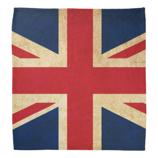 Old Vintage Grunge United Kingdom Flag Union Jack Bandana