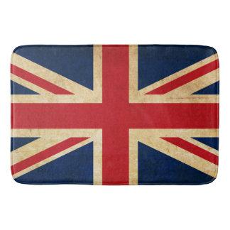 Old Vintage Grunge United Kingdom Flag Union Jack Bath Mat