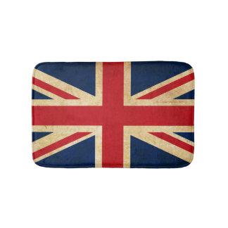 Old Vintage Grunge United Kingdom Flag Union Jack Bath Mats