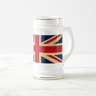Old Vintage Grunge United Kingdom Flag Union Jack Beer Stein