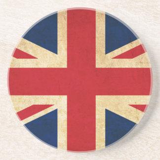Old Vintage Grunge United Kingdom Flag Union Jack Coaster
