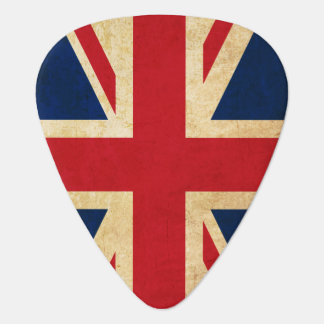 Old Vintage Grunge United Kingdom Flag Union Jack Guitar Pick