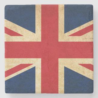 Old Vintage Grunge United Kingdom Flag Union Jack Stone Coaster