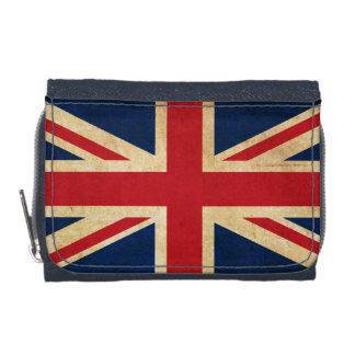 Old Vintage Grunge United Kingdom Flag Union Jack Wallets