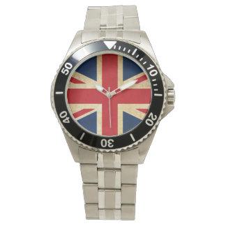 Old Vintage Grunge United Kingdom Flag Union Jack Watch