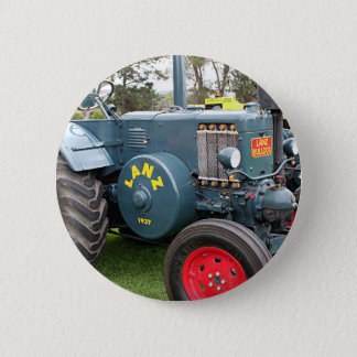 Old vintage Lanz Bulldog tractor farm machinery 6 Cm Round Badge