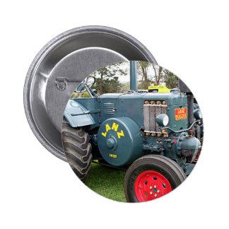 Old vintage Lanz Bulldog tractor farm machinery 6 Cm Round Badge