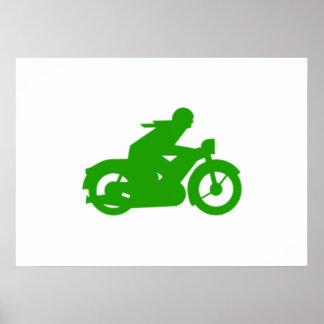 Old Vintage Motorcycle Poster