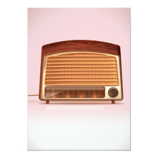 Old vintage retro Radio planyer Card
