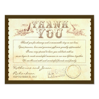 old vintage thank you tickets - cards 11 cm x 14 cm invitation card