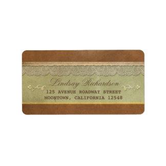 old vintage wedding address labels