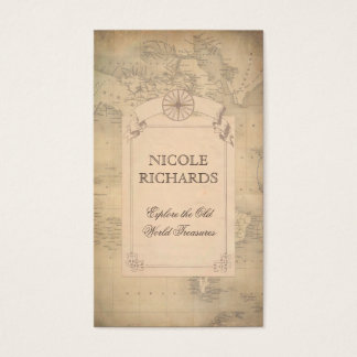 Old Vintage World Map Traveler Adventure Business Card