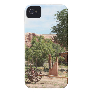 Old wagon, pioneer village, Utah 2 iPhone 4 Case-Mate Cases