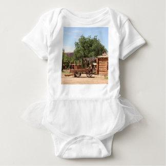 Old wagon, pioneer village, Utah Baby Bodysuit