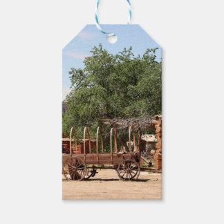 Old wagon, pioneer village, Utah Gift Tags