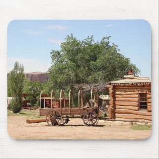 Old wagon, pioneer village, Utah Mouse Pad