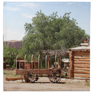 Old wagon, pioneer village, Utah Napkin