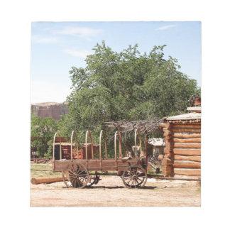 Old wagon, pioneer village, Utah Notepad