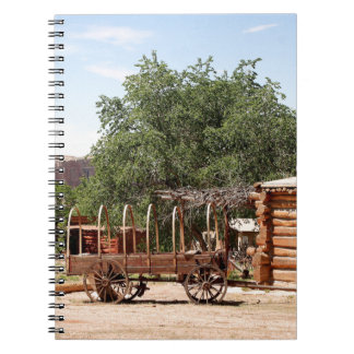 Old wagon, pioneer village, Utah Spiral Notebook