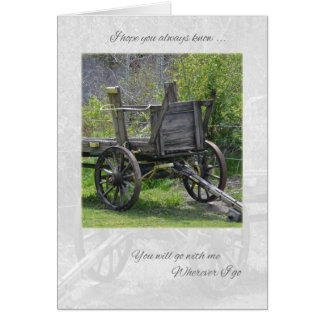 Old Wagon Thinking of You Card