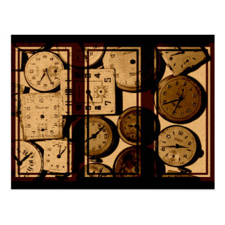 Old Watch Triptych Postcard