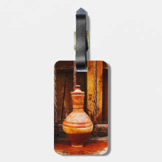Old water cooler luggage tag