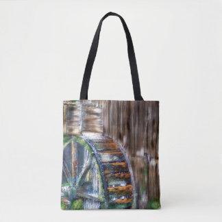 Old Waterwheel Tote Bag