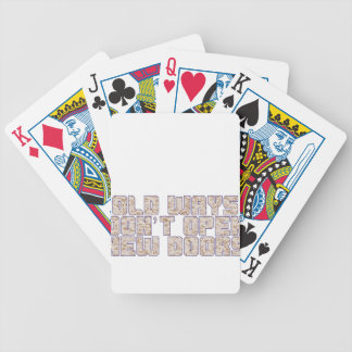 Old ways. bicycle playing cards