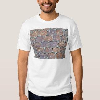 Old Weathered Stone Pavement Background Tshirts