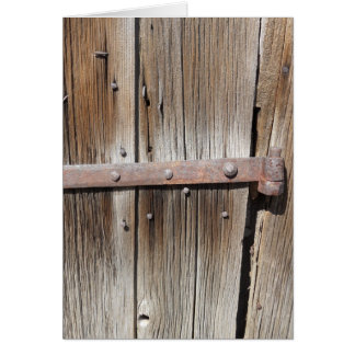 Old Weathered Wood and Rusty Metal Greeting Card