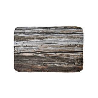 Old Weathered Wood Wall Texture Bath Mats