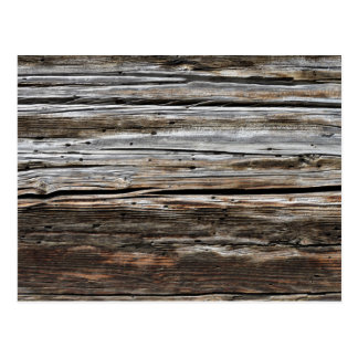 Old Weathered Wood Wall Texture Postcard