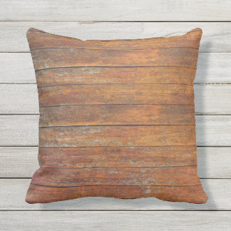 Old Weathered Wooden Flooring Texture Outdoor Outdoor Cushion